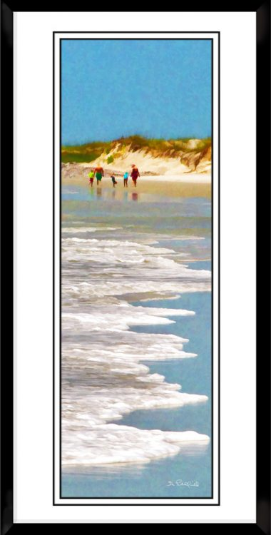 1x3-picture-frame-black-with-Beach-Walk