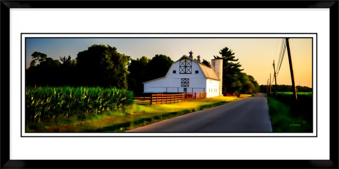1x3-picture-frame-black-with-Country-Road