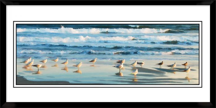 1x3-picture-frame-black-with-Ocean-Blue
