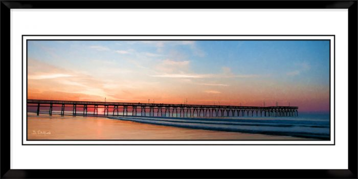 1x3-picture-frame-black-with-Sunset-Pier
