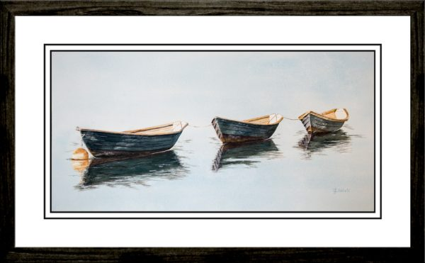Three-Boats-Framed-Watercolor-Edit