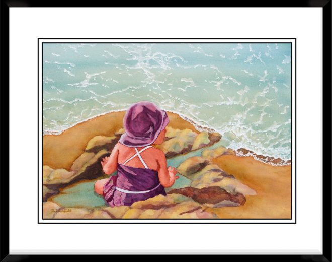 12x17-Landscape-Frame-with-Beach-Baby