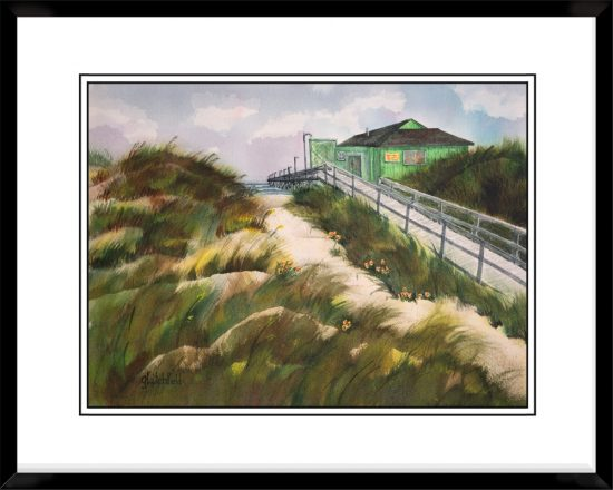 12x17-Landscape-Frame-with-Sunse-Beach-Pier