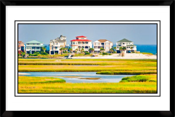 1x2-picture-frame-black-with-Across-The-Salt-Marsh
