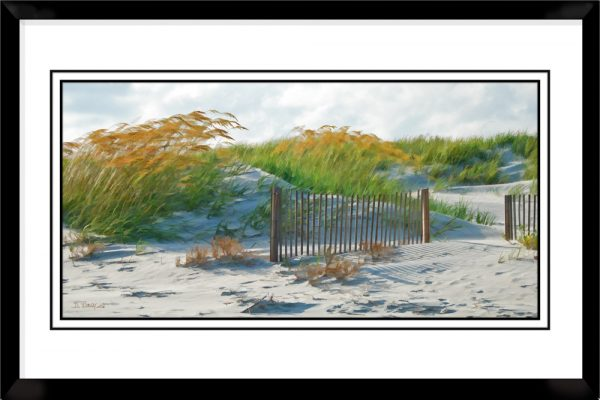 1x2-picture-frame-black-with-Fences-In-The-Sand