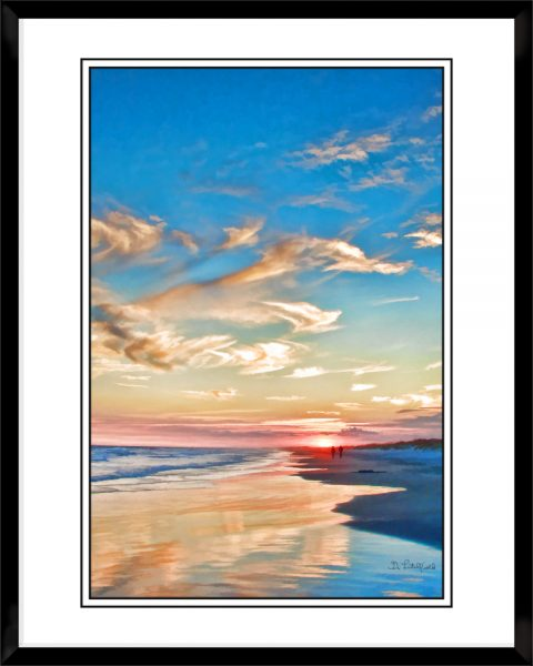 2x3-picture-frame-black-with-Sunset-At-Sunset
