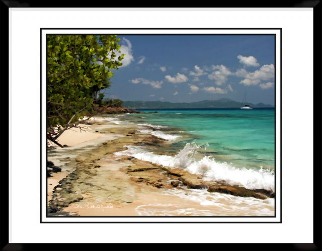 4x5-picture-frame-black-with-Caribean-Shore